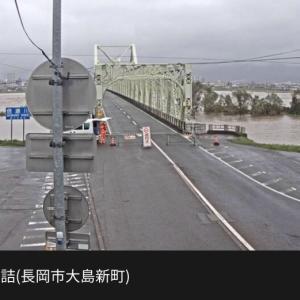 おはようございます。(長生橋は通行止めのようです。)