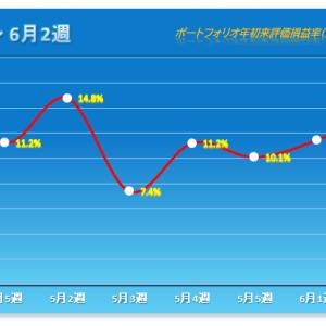 「2か月ぶりの続騰」 2021年6月2週 保有株パフォーマンス(6月11日時点)