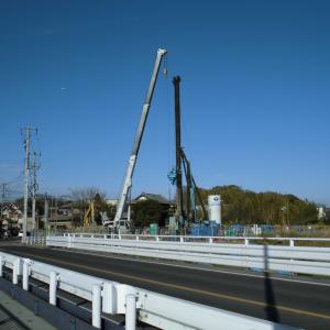 ようやく新しい亥鼻橋の工事が始まる_花見川