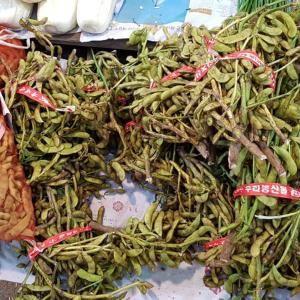 韓国で、生の枝豆を発見!