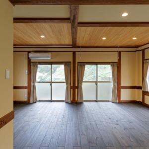 天然木のマンションにリフォーム