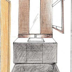 大船駅近隣で、洗面所をデザインリフォームしました。