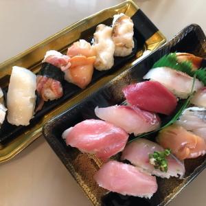 イカ丼と鱧鍋