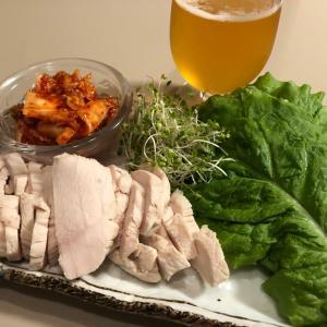 鶏ムネ肉でポッサム風