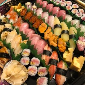 お寿司で打ち上げ