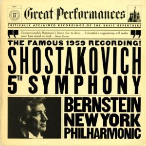 素っ気もないジャケットとは裏腹に高音質*バーンスタイン ニューヨーク・フィル ショスタコーヴィチ・交響曲5番「革命」