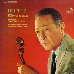 第一級の完成度★ハイフェッツ、サージェント指揮ロンドン新響 ブルッフ、ヴュータン・ヴァイオリン協奏曲