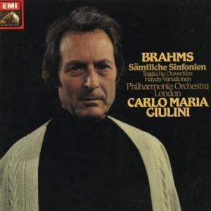 古典的な造形とロマンティシズムが傑出 カルロ・マリア・ジュリーニ フィルハーモニア管 ブラームス 交響曲全集