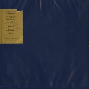 最高の子守唄◉パブロ・カザルス ジャック・ティボー アルフレッド・コルトー◯シューベルト ピアノ三重奏