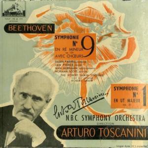 人気指揮者の初期フラット盤 ― トスカニーニ ファーレル メリマン ピアース スコット ベートーヴェン・交響曲9番/1番
