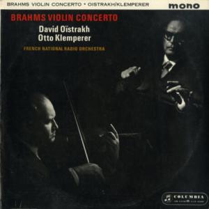 熟成された濃密な男盛りを味わう*オイストラフ クレンペラー指揮フランス国立放送管 ブラームス・ヴァイオリン協奏曲