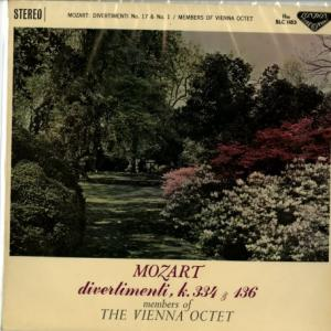 モーツァルトのお手本*ファン必聴 フィーツ、ウィーン八重奏団 モーツァルト・ディベルティメント17番&1番
