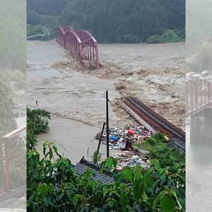 観測史上1位の豪雨被害 球磨川第一橋梁が流出 ― あす5日から予定していた熊本県高校野球大会の開幕を順延 7月4日