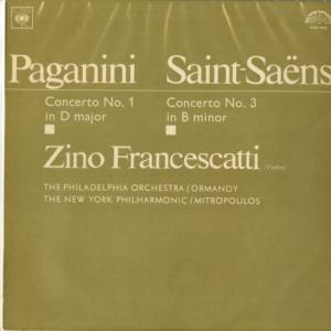 幸福の魔法★フランチェスカッティ、オーマンディ指揮フィラデルフィア管 パガニーニ&サン=サーンス・ヴァイオリン協奏曲