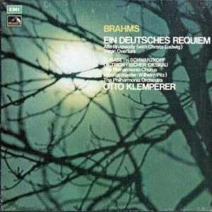 ブラームスだからというのではなく♭基準盤の一枚 クレンペラー指揮フィルハーモニア管 ブラームス・ドイツ・レクイエム