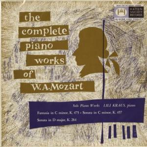 リリー、モーツァルトを弾いて下さい*リリー・クラウス モーツァルト ピアノ・ソナタ14番/6番/幻想曲