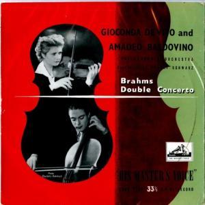 12インチ盤は存在せず*デ・ヴィート&バルドヴィーノ、シュヴァルツ指揮フィルハーモニア ブラームス 二重協奏曲