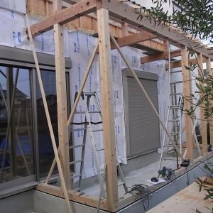 みよし市のリフォーム(増築・改装)構造体組上げ