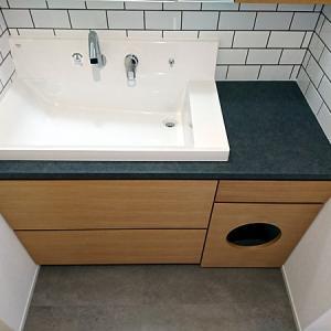 みよし市のリフォーム(増築・改装)オーダー洗面台工事
