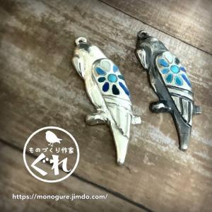 【新作】小鳥モチーフペンダントの試作 2