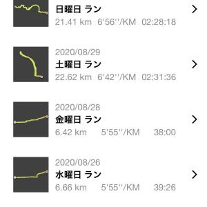 8月は291.8km