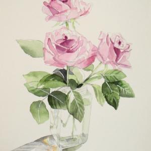 久しぶりに薔薇を描く^^