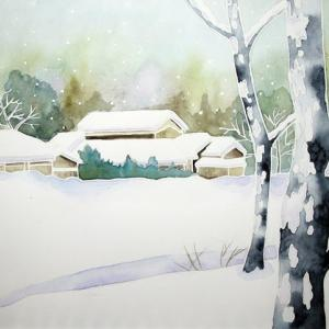 雪景色を描く^^