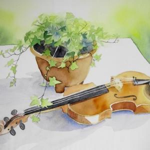 My Violinを描く^^