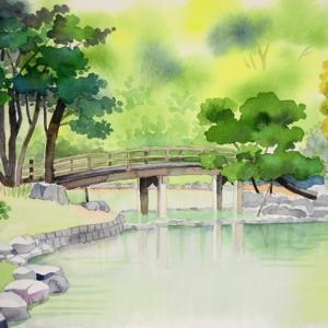 浜離宮日本庭園の風景^^