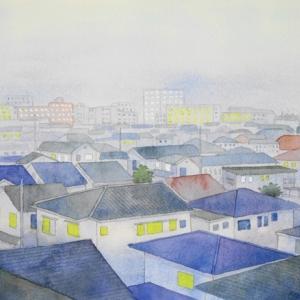 たそがれ時の街の風景^^