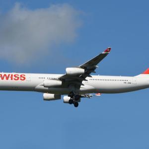 ついに成田からA340定期便が消える・・・?(スイスのエアバスA340-300)