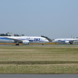 """787ロゴ、いよいよ絶滅寸前・・・!(全日空のボーイング787-8""""787""""ロゴ入り機)"""