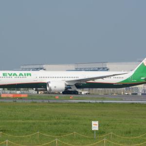 エヴァの78X、再び成田へ戻ってきました・・・笑(エヴァのボーイング787-10)