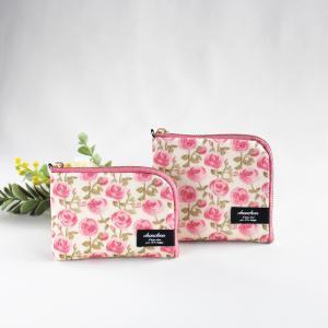 L字ファスナー ミニ財布とカードケース リバティ ローズマリー
