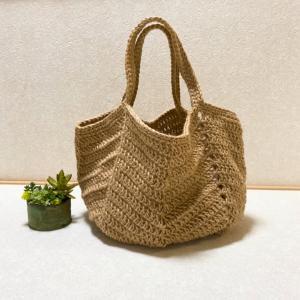 長編みの麻ひもbag