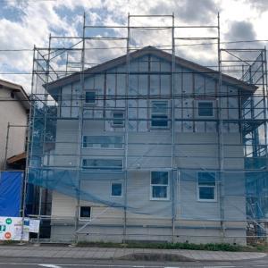 ◆FPの家|柴田町|ℍ邸|外壁工事進んでいます!