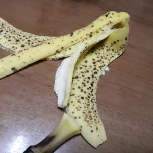 一週間保存したバナナ