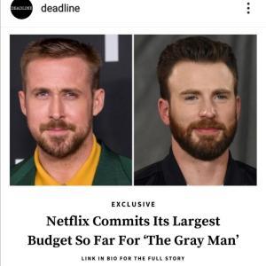ライアン・ゴズリング×クリス・エヴァンス!Netflixがやってくれます!