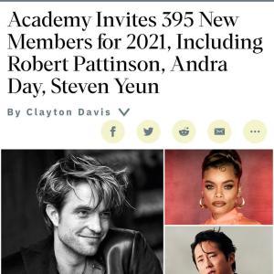 アカデミー協会が新規会員発表!ロバート・パティンソン、ヴァネッサ・カービー、アメリア・ワーナーも