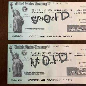 アメリカ コロナ給付金の小切手が届いた