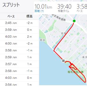 サブスリーランナー定番のポイント練習☆キロヨン10km走