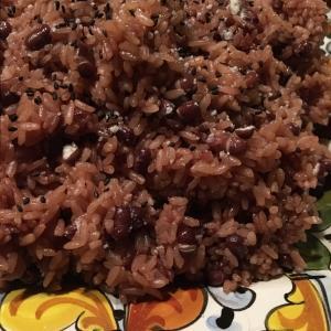 そして和洋折衷、平たいパプリカと小豆と