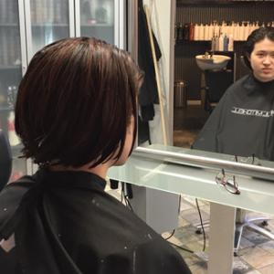 ばっさりと髪切り、大人度アップした