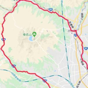 「早朝100km走:倉渕越えで利根川CR」104.39km
