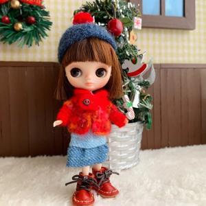すずめの詩★赤いカーディガンでクリスマス気分