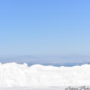 ●雪と青空と山並みと