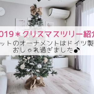 《2019クリスマスツリー》セットのオーナメントはドイツ製でおしゃれ過ぎ♪