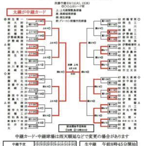 群馬県高校野球大会中継カード