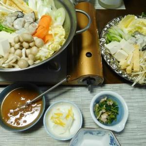 寒い夜は・・・牡蠣の味噌鍋♪