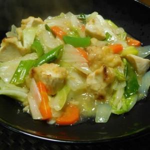 鶏天ぷらと白菜の中華炒め^0^